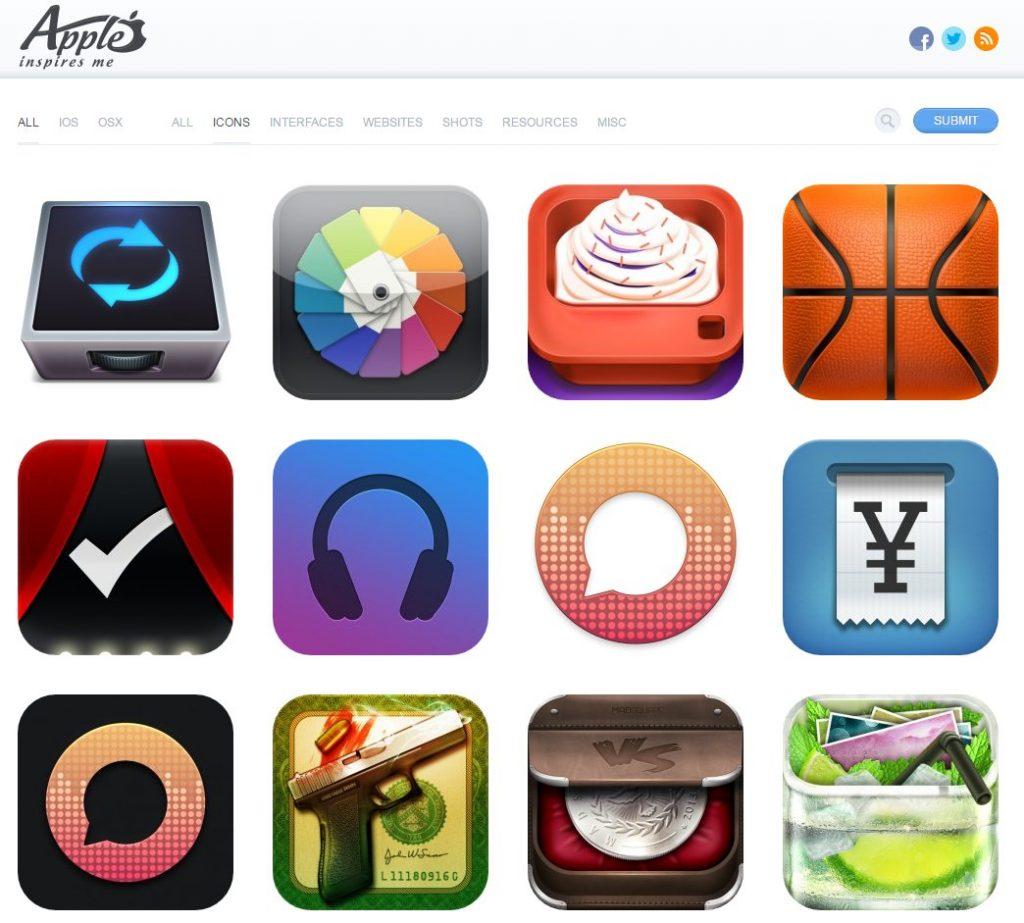 Скриншот сайта AppleInspires.me