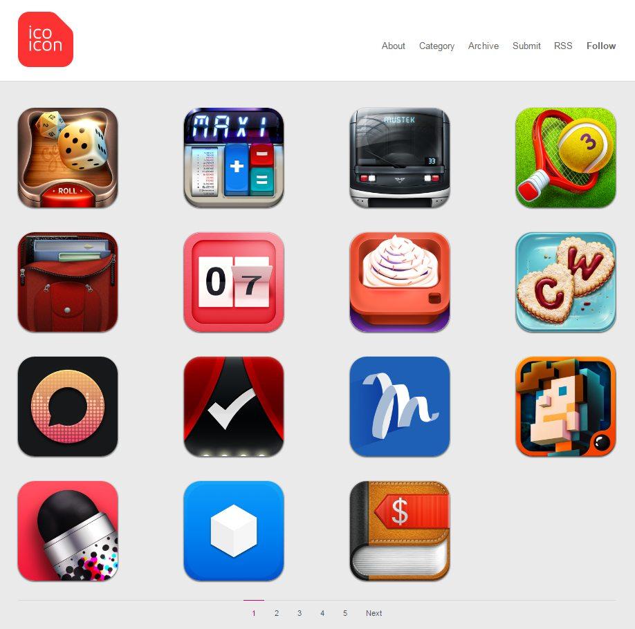 Скриншот сайта icoicon.com