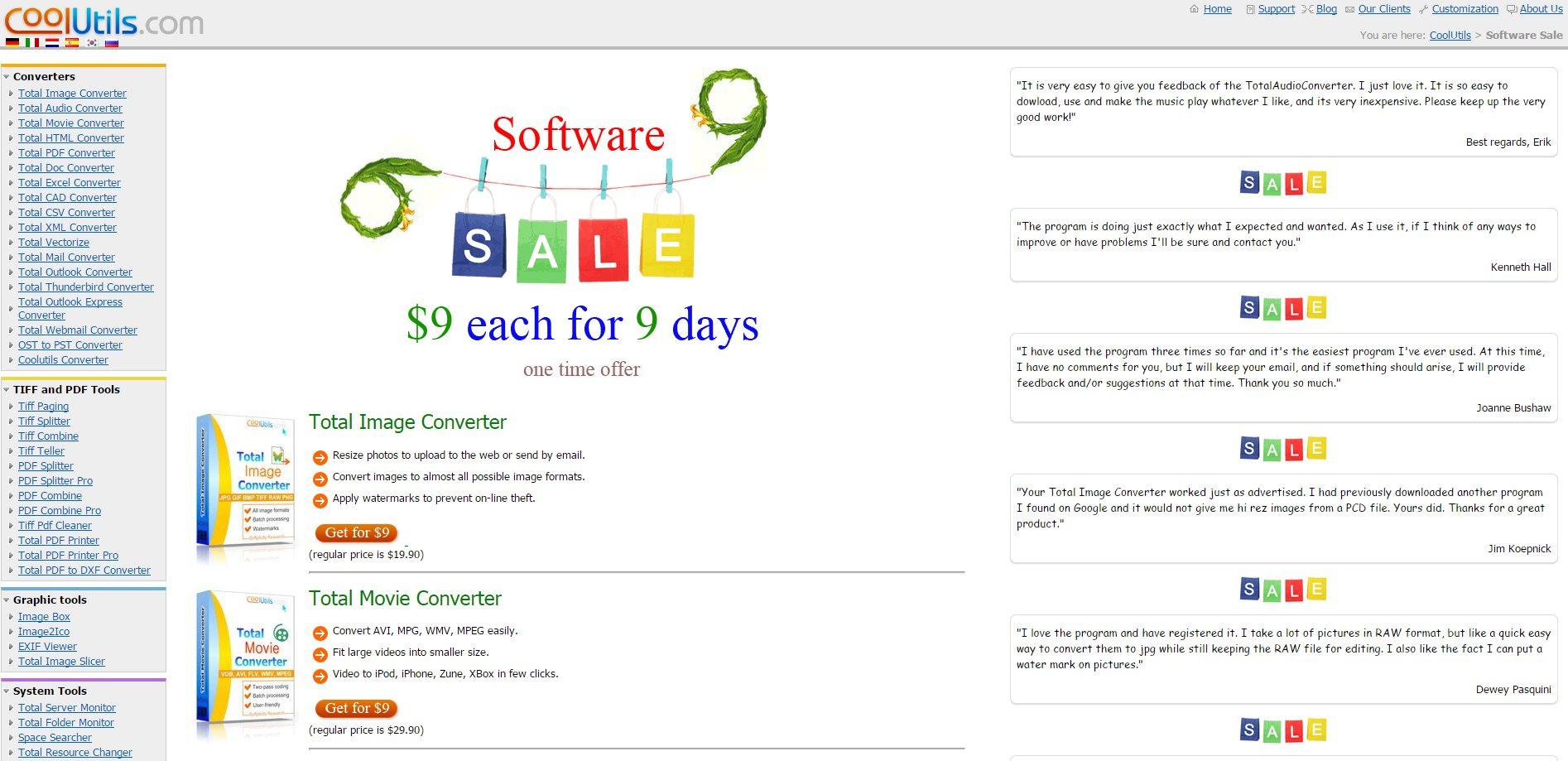 http://www.coolutils.com/softwaresale9.php