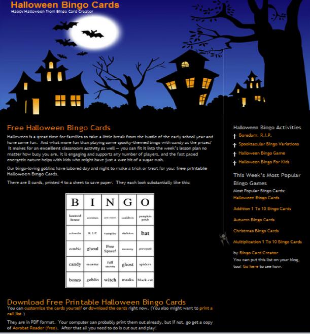 Лендинг в стиле Хеллоуин