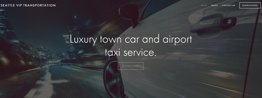 Пример использования такой картинки компанией по предоставлению элитных такси