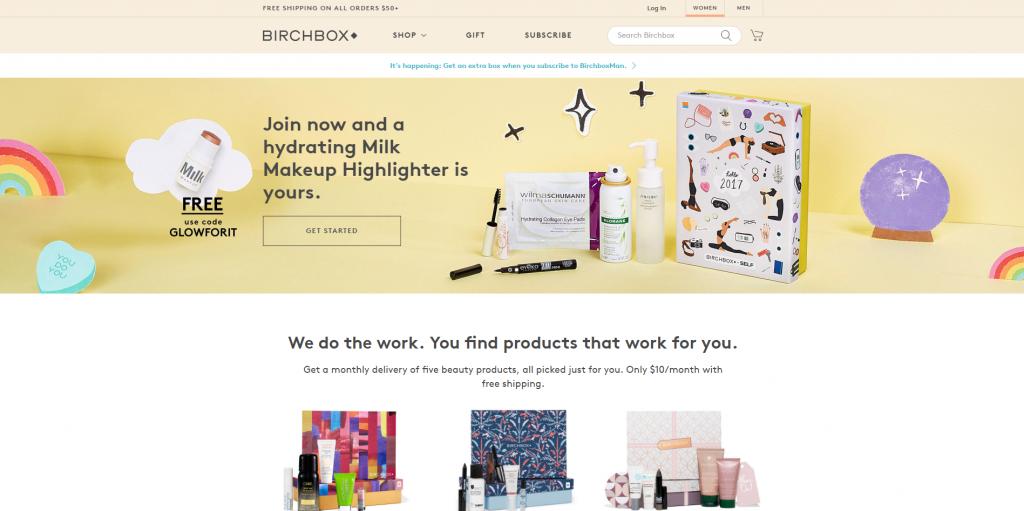 Подписка на пробники с новинками косметики Birchbox