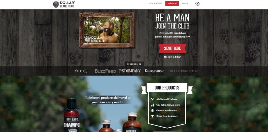 Dollar beard club создал сообщество бородатых людей, чтобы продвигать свой товар по уходу за бородой