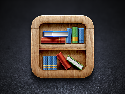 https://dribbble.com/shots/578283-Bookshelf-iOS-Icon