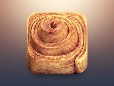 https://dribbble.com/shots/1083402-Cinnamon-Roll-App-Icon