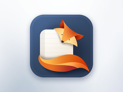 https://dribbble.com/shots/2599441-Foxy-Note