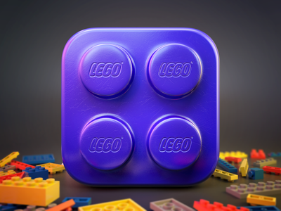 https://dribbble.com/shots/1227695-Lego-brick-icon