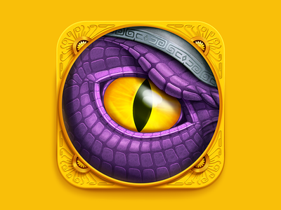 https://dribbble.com/shots/1408200-Dragon-Eye-iOS-Icon