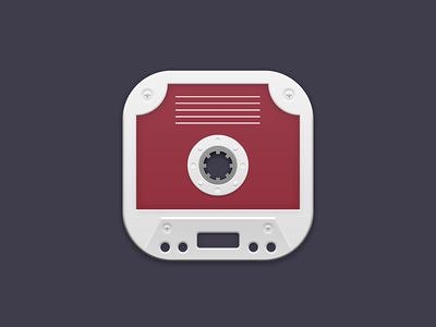 https://dribbble.com/shots/2495606-Cassette-Tape-iOS-Icon