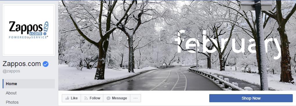 Компания Zappos использует фотографии времен года, подготавливая линейку одежды к каждому сезону