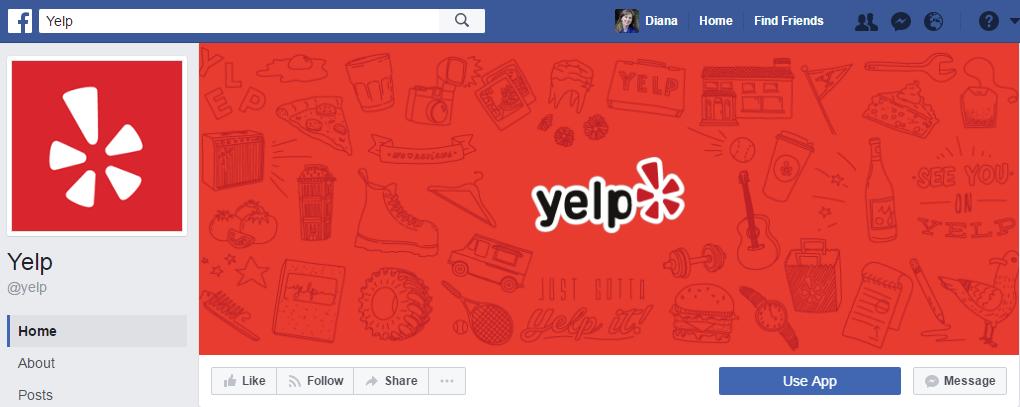 Яркая обложка Yelp, которую хочется рассматривать еще и еще