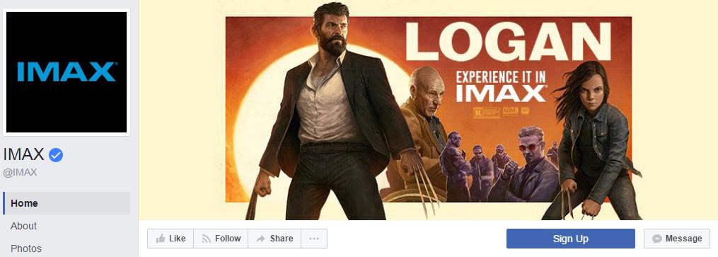 2,7 млн. подписчиков страницы IMAX всегда в курсе, какой фильм скоро появится на экранах