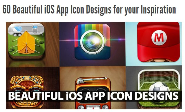 Example of an icon collection for inspiration