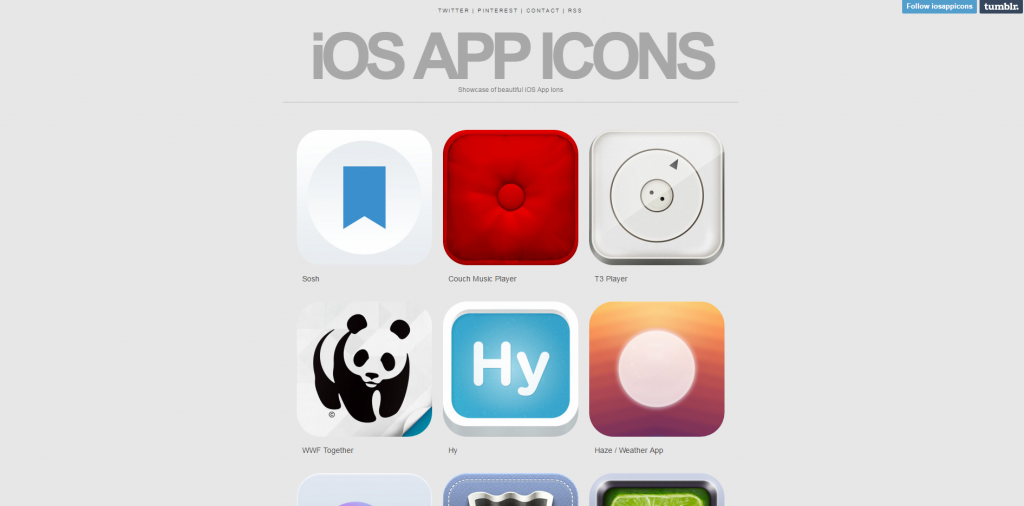 iOS App Icons on Tumblr