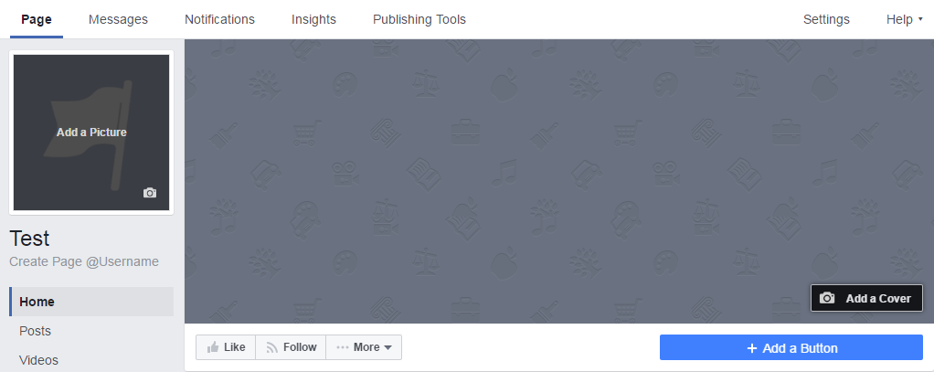 This is what the Facebook page design looks like at the time of writing (February 2017).