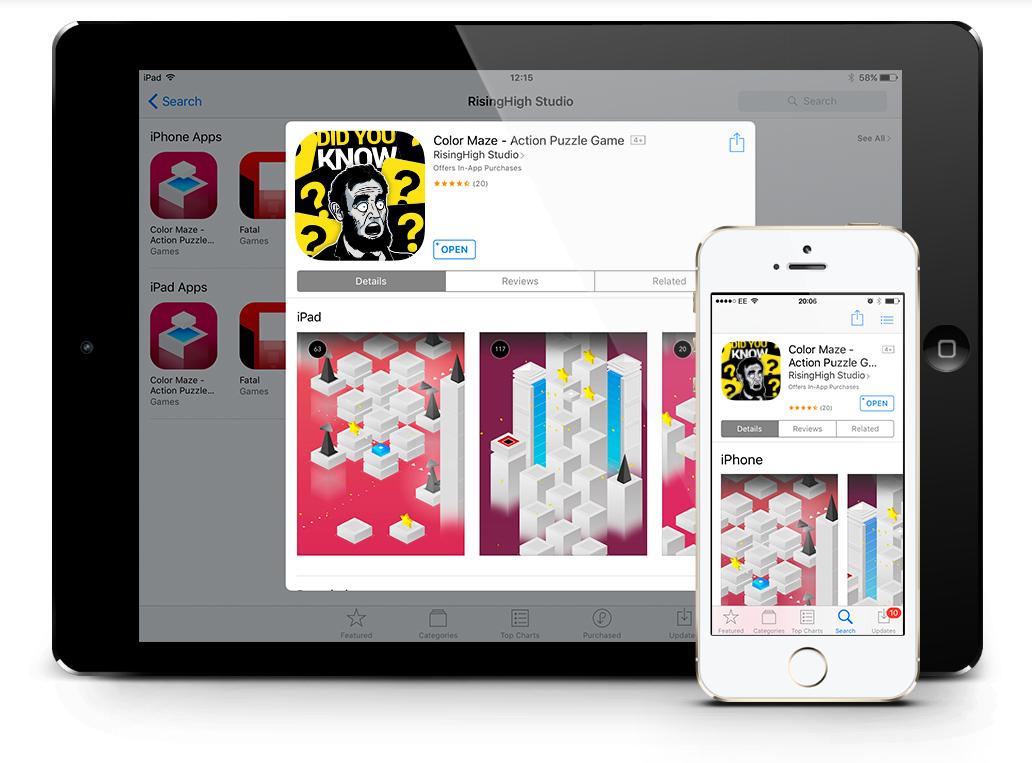 Тестирования iOS иконки, созданной в нашей студии