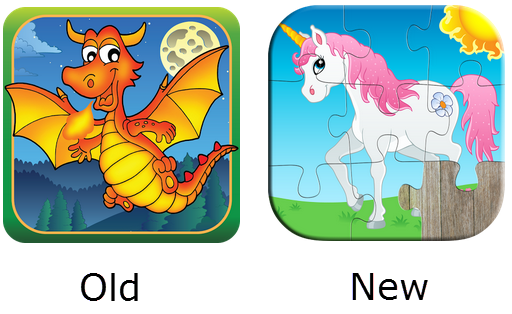 Прежний и новый дизайн иконки