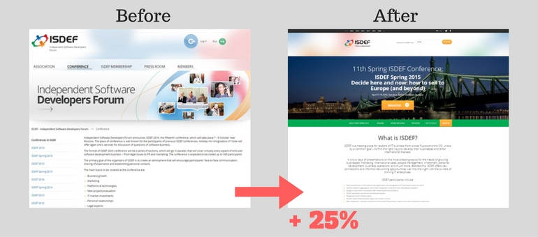 how to build a landing page that converts: the ISDEF case