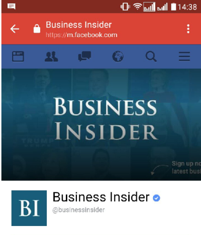 The arrow on the Business Insider cover pointed to nothing