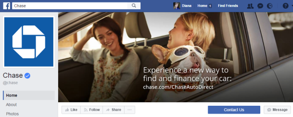 3.6 million people subscribe to the financial company Chase's Facebook page