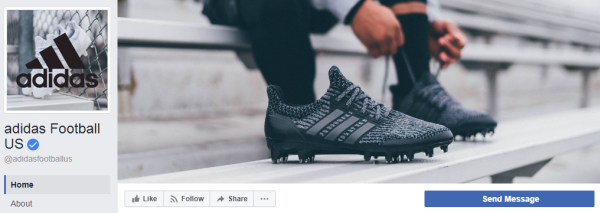 And this is how the Adidas company presented its new shoes on Facebook