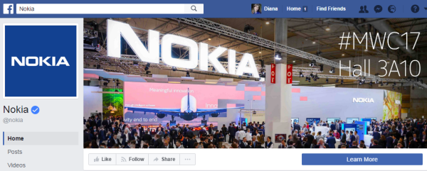 "Nokia page has 15.3 million ""Likes"""