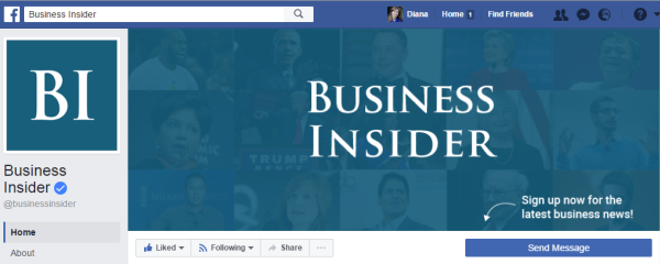 The Business Insider page has 6.8 million likes