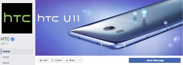 More than 6 million people liked the HTC business page