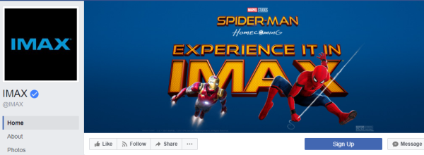 2.7 million subscribers of the IMAX page are always aware of which film is coming soon to their local theatre