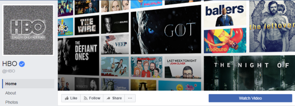 The HBO television network has more than 11 million subscribers – and a shot from the telecasts on its Facebook cover