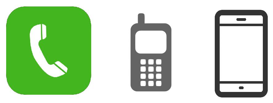 Эволюция иконок телефонного звонка