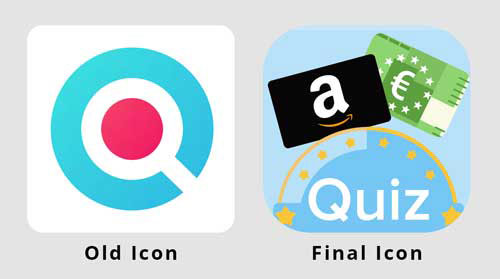 The application's old icon and a new one
