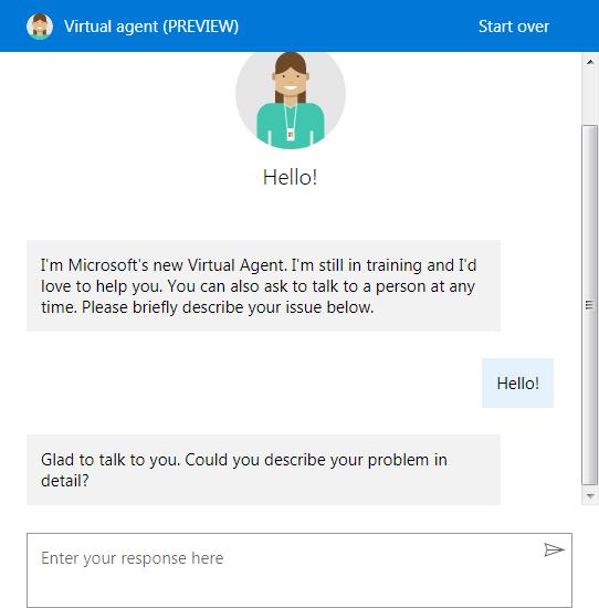 А вот так выглядит общение с консультантом.