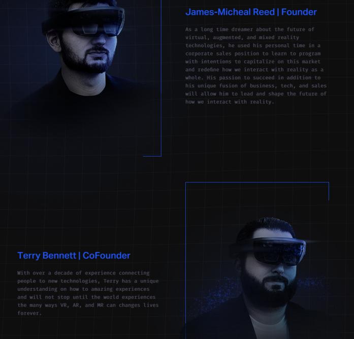 Вот так подана информация об основателях компании.