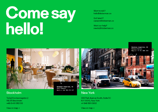 Два офиса в разных частях мира, но одинаково простое и дружеское обращение к клиенту.