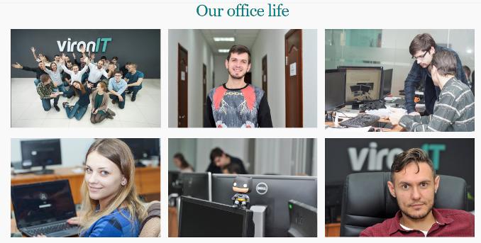 Живые лица, искренние эмоции, разгар рабочего процесса. Словно побывал в офисе данной компании.